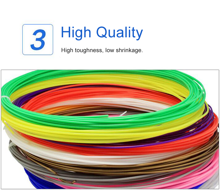 1.75MM PLA Filament Materials For 3D Printing Pen Threads Plastic Printer Consumables DIY Gifts toys for Kids GYH 15