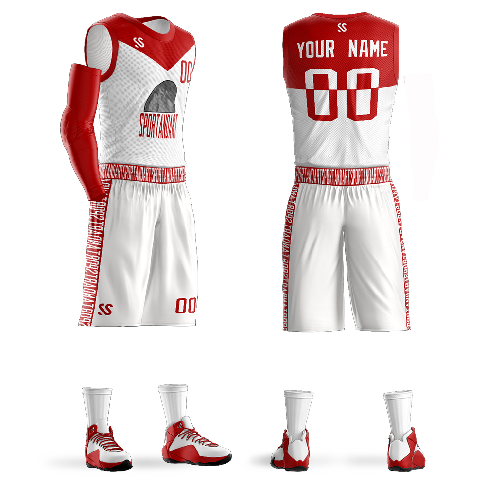 Custom Mens Youth Basketball Jerseys Basketball Set Clothes Breathable Team Sport Tracksuit Sleeveless Sportswear DIY Uniforms