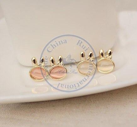 Stud Earrings ear rings Fashion for women Girls lady cute animal moon desgin CN post