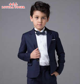 2017 new arrival fashion baby boys kids blazers boy suit for weddings prom formal navy blue dress wedding boy suits 4pcs - DISCOUNT ITEM  48% OFF All Category