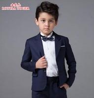 2017 new arrival fashion baby boys kids blazers boy suit for weddings prom formal navy blue dress wedding boy suits 4pcs