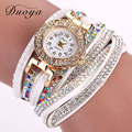 Duoya Brand Watches Women Gold Dress Bracelet Wristwatch Pearl Gemstone Luxury Casual Popular Female Quartz Wristwatch