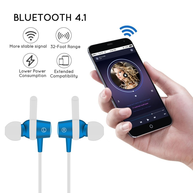 For LG K7 K8 K10 2017 2016 Version Headphone Bluetooth Wireless Earphone Earbud Headset  ...