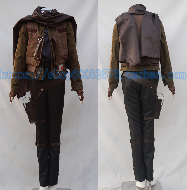 Cosplay Costumes Star Wars Rogue One A Star Wars Story Jyn Erso  Halloween Christmas New Year Carnival Party Adult Outfit