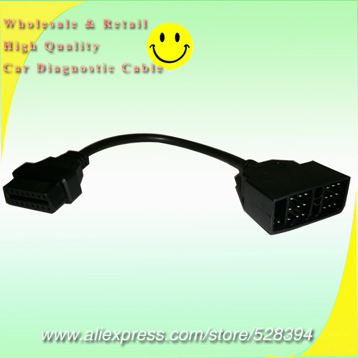10% Off Wholesale High quality Connector OBD1 to <font><b>OBD2</b></font> For <font><b>Toyota</b></font> <font><b>22</b></font> <font><b>Pin</b></font> to 16 <font><b>Pin</b></font> Diagnostic <font><b>Adapter</b></font> Cable 50pcs image