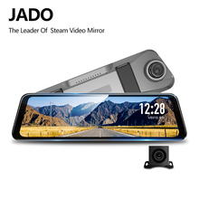 JADO D820s Flusso Specchietto retrovisore Dell'automobile Dvr del precipitare Della Macchina Fotografica avtoregistrator 10 IPS Touch Screen Full HD 1080 P Auto Registratore dash cam
