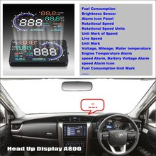LiisleeCar HUD Head Up Display For TOYOTA Fortuner SW4 Innova Refkecting Windshield Screen Safe Driving Screen Projector