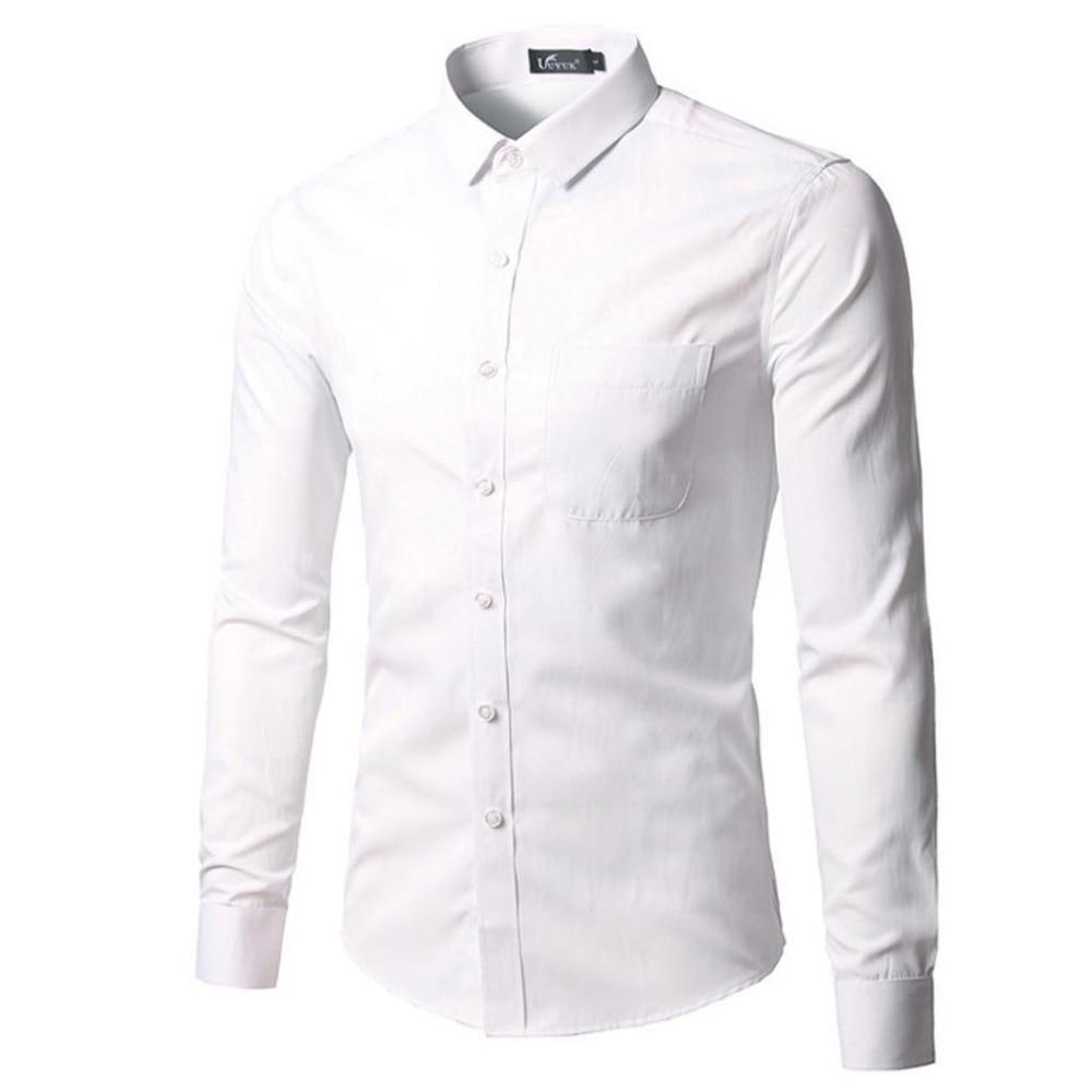 Business Office Work Classical Black Shirts Men Turn Down Collar Long Sleeve Slim Formal Camisa Social Masculina Button Up Shirt