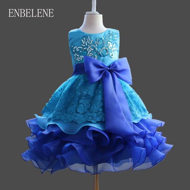 39de764af Aliexpress.com: Comprar Bebé Niñas noche para Navidad Vestidos de fiesta  niños grandes púrpura rojo rosa caliente azul bola niños cumpleaños ...