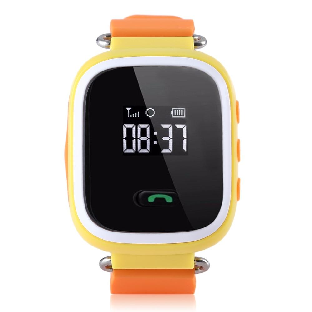 imágenes para 1.22 pulgadas Bebé Reloj Teléfono Inteligente SIM reloj teléfono Inteligente Reloj GPS perseguidor SOS Seguro Anti Niños Perdidos Smart Touch Reloj para Android IOS