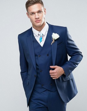2017 Latest Coat Pant Designs Navy Blue Groom font b Men b font font b Suit