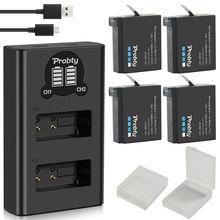 Originale probty Per GoPro Hero 4 Hero 4 batteria + del caricatore LED per go pro AHDBT 401 Hero 4 Nero Argento accessori macchina fotografica di azione