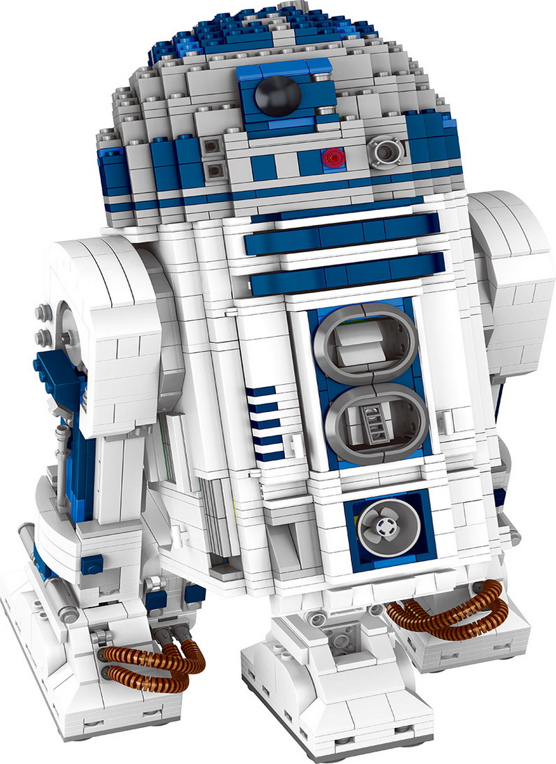 05043 LEPIN STAR WARS R2-D2 Robot Model Building Blocks Classic Enlighten DIY Figure Toys For Children Compatible Legoe 05050 lepin star wars motorized walking at at model building blocks classic enlighten figure toys for children compatible legoe