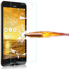 Tempered Glass For Asus zenfone 2 Laser ZE500KL ZE551KL ZE551ML GO ZB500KL ZB500KG Selfie Max Live 5 Pegasus 3 z00sd z00vd z00ed(China)