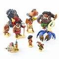 10pcs/set Tui Tala Heihei Pua Villager Tamatoa Dolls PVC Action Figure Toys Brinquedos 7-10cm moana Tamatoa Dolls