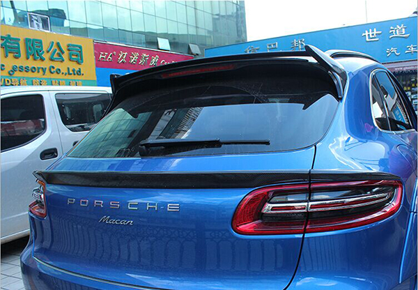 Fit For Porsche Macan Cf Carbon Fiber Rear Spoiler Rear Wing In Oil Coolers From Automobiles