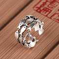 Женское Винтажное кольцо серебряного цвета многослойный, массивное ювелирное изделие с рыбками, обручальное кольцо