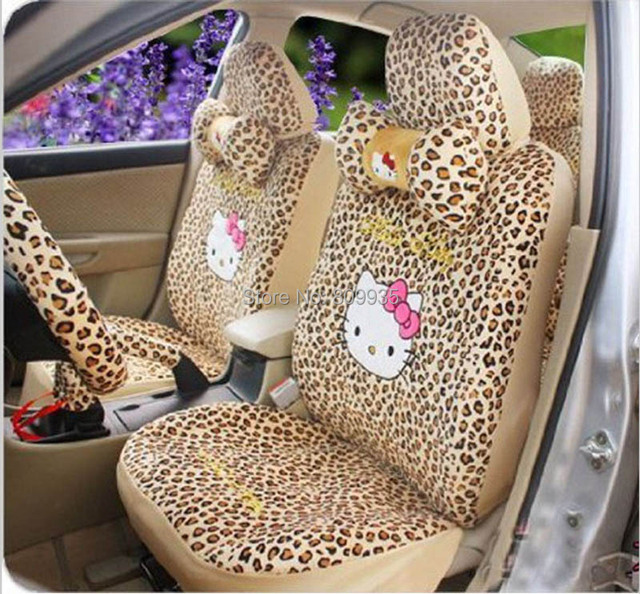 Hello Kitty Auto Car Rearview Mirror Cover Rear Seat Cover 18pc kit interior set car accessories/cushion
