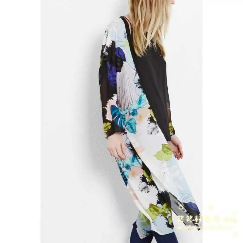 夏の女性のロング着物女性タッセル刺繍ズセーターエスニックカーディガンヴィンテージシフォン花着物 mujer ropa カジュアルブラウスシャツ