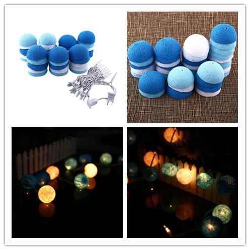 Algodón 35 Bola de navidad LED 4.5 M Enchufe Luz de la Secuencia Del Banquete de Boda de Decoración Al Aire Libre