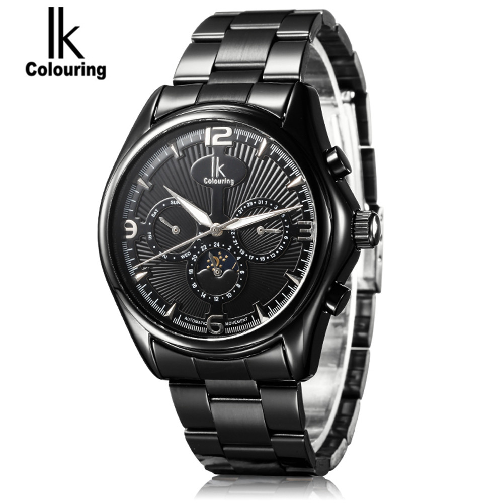 IK Luxury Relogio Masculino Men's 6 Hands Day/Week/24 Hours Automatic Mechanical Watch Wristwatch Free Ship ik 2017 luxury men s relogio masculino skeleton dial horloge auto mechanical wristwatch original box free ship