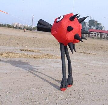 Nouveau 3D jouet d'extérieur en nylon parapluie tissu doux cerf-volant sac facile à voler