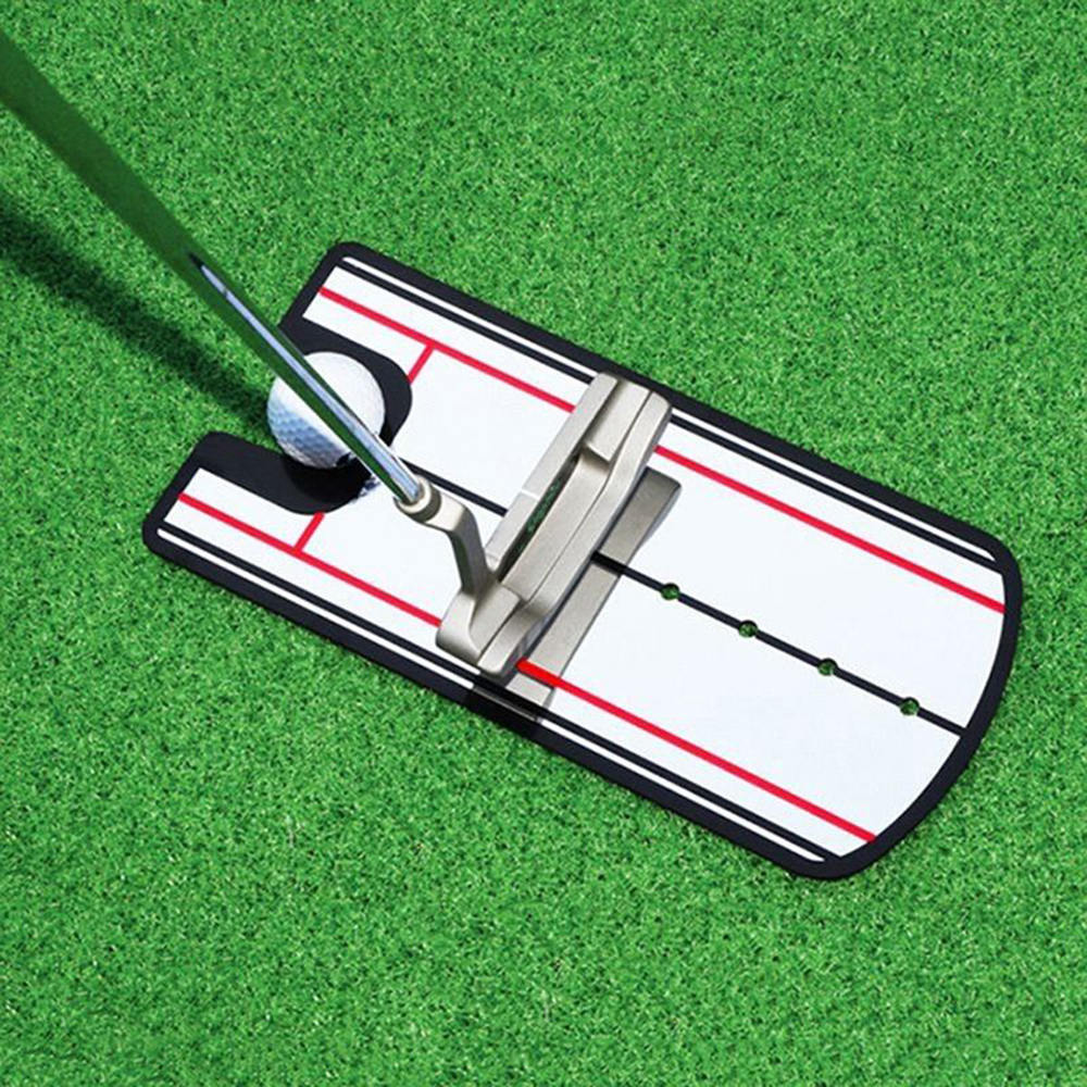 Portable Golf Putting Mirror Alignment Practice Training Aid Tools Eye Line Golf Swing Trainer Outdoor Golf Putting Accessories