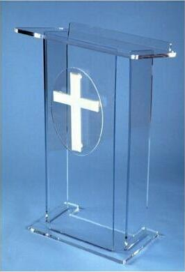 Free Shipping Logo Customize Modern And Stylish 2019 Acrylic Pulpit Church Acrylic Podium Lectern Pulpit  Lucite