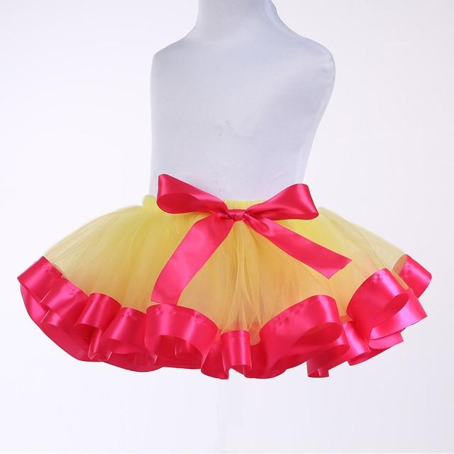 New Arrival Kids Baby Girls Tutu Skirt Chiffon Casual Fluffy Pettiskirts Toddler Children Party Tulle Short Mini Skirt 2-12Y