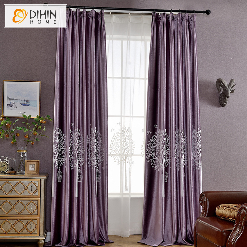 New Arrival Garden Curtains 2 Colors Pastoral Blackout ...