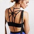 Women Strappy Open-back Sport Bra Yoga Running High Strength Nylon Bra Factory Direct Shockproof No Bounce Top high performance