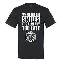 때 DM 미소 벌써 너무 Dungeon 및 드래곤 t 셔츠 짧은 소매 T 셔츠 무료 배송 티 탑 100%