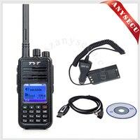 TYT md380 md-380 DMR kỹ thuật số uhf radio 400-480 MHz radio với cáp lập trình + pin xe eliminator