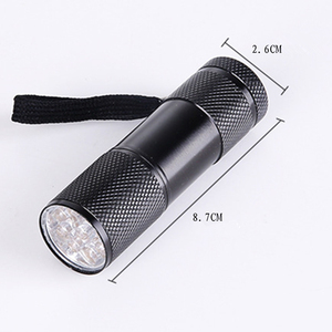 Image 2 - Mini 9LED UV Flashlight Ultraviolet led flashlight Ultra Violet Invisible Ink Marker Detection Torch Light 3AAA UV lamp