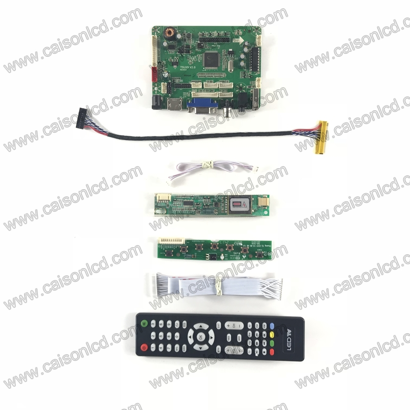 TSUX9 V2.0 LCD controller board with HDMI VGA AV AUDIO USB for LCD panel 15 inch 1024X768 LP150X05 A2 CLAA150XH01 B150XG02 V2 Replacement Parts & Accessories     - title=