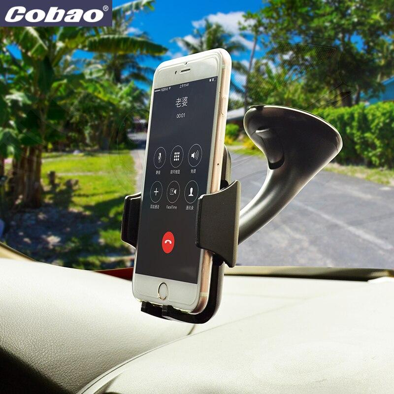 Cobao brisa do carro universal montar titular chuck forte vácuo de sucção titular do telefone suporte para Iphone 5 4S 5S 6 7 mais Galáxia