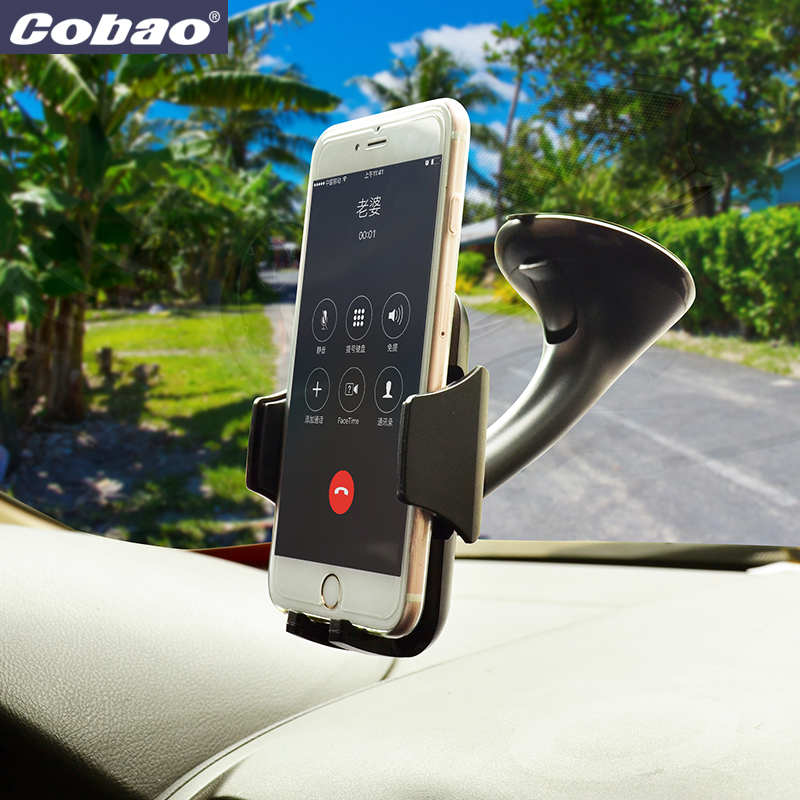 Cobao universal car windshield mount holder strong suction vaccum chuck phone holder stand for Iphone 4s 5 5s 6 7 plus Galaxy