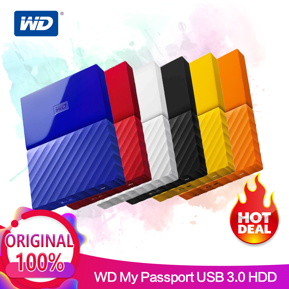 Western Digital My Passeport Portable HDD 2.5 Disque Dur Externe WD Disque USB3.0 1 T 2 T Périphériques De Stockage SATA3 pour PC