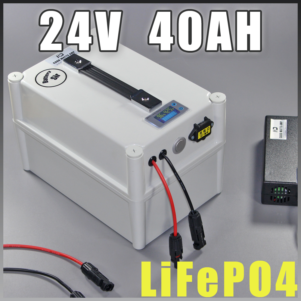 24V 40Ah LiFePO4 Portable battery 1000W Electric Bicycle Battery + BMS Charger 24v lithium scooter electric bike battery pack diy 24v 20ah electric bike battery 500w electric bicycle lithium ion battery with bms charger 24v li ion scooter battery pack