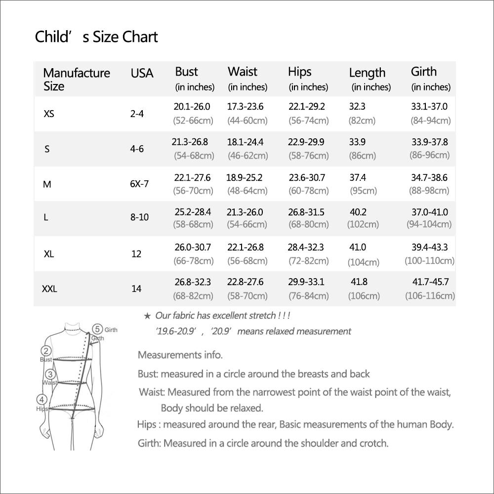 AE child size chart C1202