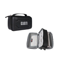 BUBM double layer Portable Travel Organizer digital receiving bag T Black