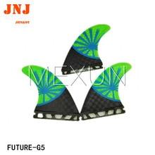 FREE SHIPPING green fiberglass carbon future Tri-set M G5 fins surf table fin 3pcs a set