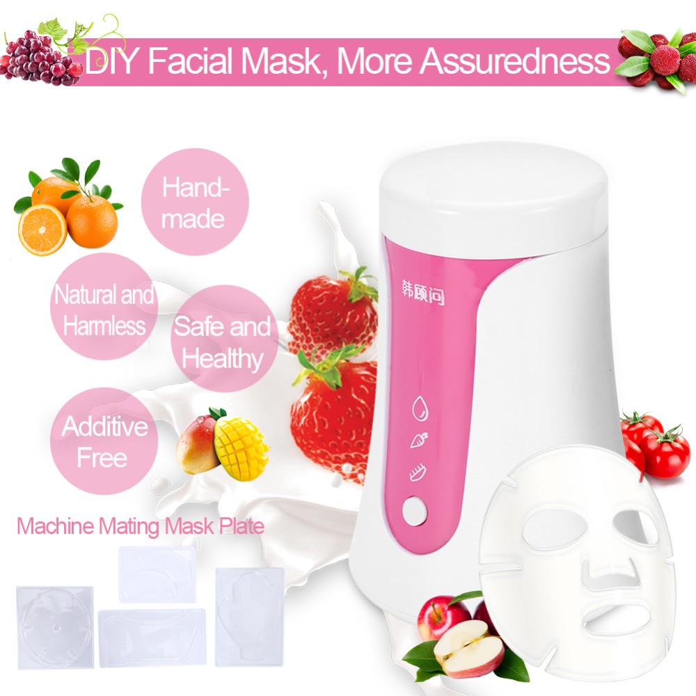 Face Mask Maker Machine Portable DIY Fruit Vegetable Facial Masks Machine for Natural Organic Face Mask DIY Natural Mask 4 in 1 diy facial mask maker set mixing bowl stick brush measuring spoons blue white