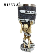 RUIDA Creative Horrible Coolest Gothic Skull Goblet Retro Claw Wine Glass Cocktail Glasses Whiskey Cup Party Bar Drinkware gift
