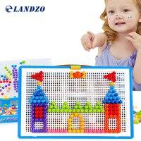 Mushroom Nail Kit Puzzle Toys 3D Mosaic Picture Puzzle 296pcs Kids Children Birthday Gifts Brinquedos Juguetes
