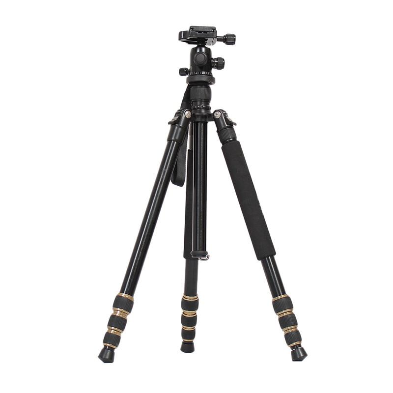 For Q666 Professional Portable Aluminium DSLR Camera Tripod Monopod for Camera Max load 13kg with Ball Head