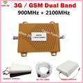HOT SALE GSM 3G Cellular Signal Repeater GSM 900 3G UMTS 2100 Dual Band Cell phone Amplifier Repetidor Mobile Phone Boosters