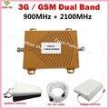 VENDA QUENTE GSM 3G Sinal De Celular Repetidor GSM 900 3G UMTS 2100 Dual Band telefone Celular Amplificador Repetidor Do Telefone Móvel Boosters