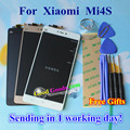 Alta Calidad LCD de Repuesto Pantalla + Digitalizador Touch Screen Asamblea de Cristal Para Xiaomi MI 4S M4S Mi4S Teléfono Móvil Blanco Negro oro