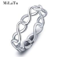JBOX Wholesale Rings 925 Sterling Silver Rings For Women Girls Best Friends Rings Endless Love Piercing
